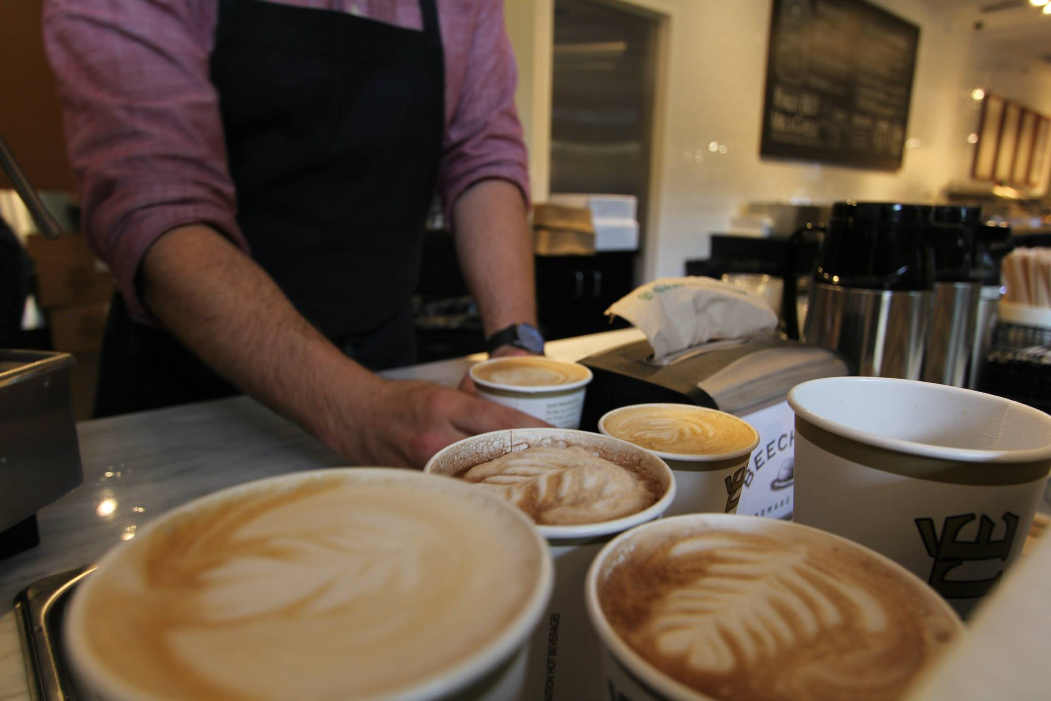 Serving up coffee from Fonte