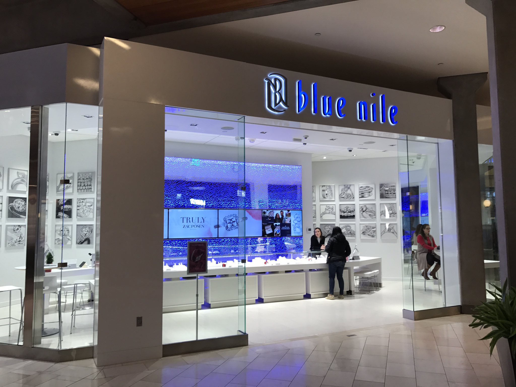 Blue nile opens webrooms in bellevue square for Roosevelt field jewelry stores